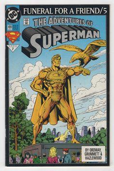 Adventures of Superman Vol 1 499 Superman Story, Superman Comic Books, Death Of Superman, Superman Family, Dc Comic Books, Comic Book Covers, Comic Art, Dc Comics, Action Comics 1
