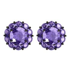 Color My Life Tanzinite Fiore December Stud Earrings ($875) ❤ liked on Polyvore featuring jewelry, earrings, stud earring set, anniversary jewelry and stud earrings