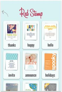 Send greeting cards (even photo cards) right from your iPhone with Red Stamp!