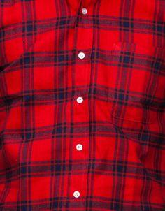 UNITED - Red/Indigo Brushed Plaid Shirt