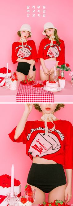 Strawberry Milk Strawberry Taste Knit - I know you wanna kiss me. Thank you for visiting CHUU.