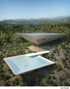 Experimental Architecture: Inverted Pyramid House Set into a Spanish Hillside Architecture Résidentielle, Religious Architecture, Futuristic Architecture, Amazing Architecture, Contemporary Architecture, Japanese Architecture, Futuristic Houses, Contemporary Design, University Architecture
