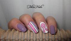Cancer awareness by TokiaNails - Nail Art Gallery nailartgallery.nailsmag.com by Nails Magazine www.nailsmag.com #nailart