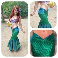 Mar MELODY cola de sirena Sirenita cola traje traje de