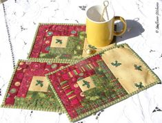 log-cabin-mug-rugs.jpg 500×381 pixels