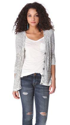 Soft Joie Ambra Metallic Cardigan Sweater  $128