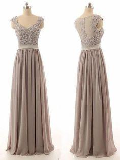 gray bridesmaid dress,long bridesmaid dress,lace top bridesmaid dress, – Princesssbride
