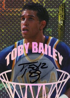 ROOKIE 98/99 COLLECTORS EDGE AUTHENTIC PRO AUTOGRAPH TOBY BAILEY PHOENIX SUNS