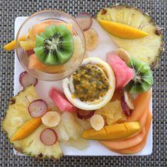 Petit déjeuner exotique Guadeloupe - fruits frais
