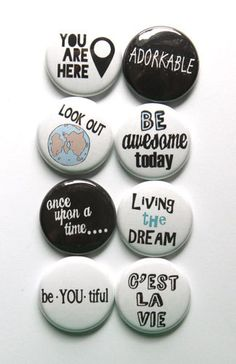 Just Words 3 Flair by aflairforbuttons on Etsy, $6.00 #aflairforbuttons #projectlife