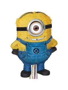 Let your minion have his own minion with this 20'' H x 15'' W Pinata. With two…