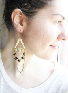 Boho Dangle Earrings. Geometric Earrings by Nuann on Etsy