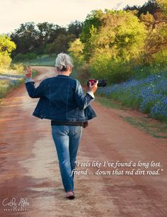 The Photographer...Pure magic when you find a dirt road lined with bluebonnets in the Texas Hill Country.