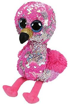 Pinky The Silver Flamingo Flippable Medium is part of the Flippable Beanie Boos collection from Ty. Flippables are plush animals covered with sequins and when you pet the sequins, they turn over to reveal a different colour. Ty Beanie Boos, Beanie Babies, Flamingo Toy, Pink Flamingos, Flamingo Color, Ty Stuffed Animals, Plush Animals, Ty Animals, Mini Buggy