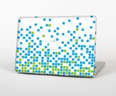 """The Green and Blue Mosaic Pattern Skin Set for the Apple MacBook Air 13"""" from Design Skinz, INC."""
