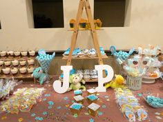 JP Baby shower para niño