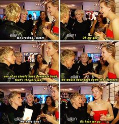 Ellen and Jennifer Lawrence on crashing Twitter…