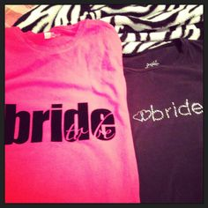 DIY bride to be shirts