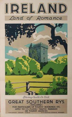 Blarney Castle County Cork. Great Southern Railways, circa 1930.