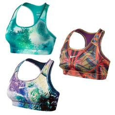 Rank & Style Top Ten Lists | Nike Pro Core Bra #rankandstyle #printed #colorful #gym #fitness