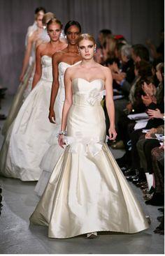 Bow wedding dress from Priscilla of Boston