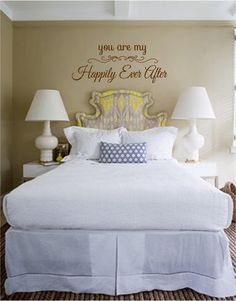 "You Are My Happily Ever After - Vinyl Wall Art Decal for the Home Couples Bedroom - Romantic - 30"" W x 12"" H by TheVinylCompany on Etsy https://www.etsy.com/listing/155310902/you-are-my-happily-ever-after-vinyl-wall"