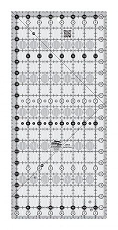 """It is the perfect size to span the most popular size of rotary cutting mats. No problems reading on either light or dark fabrics.  Creative Grids Quilt Ruler 8-1/2"""" x 18-1/2"""" Quilting Sewing"""