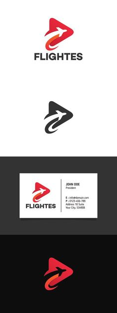 Travel Play Logo Template. Travel Icons