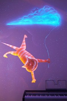 How to DIY Glow In The Dark Paint Wall Murals | iCreativeIdeas.com Follow Us on Facebook --> https://www.facebook.com/icreativeideas