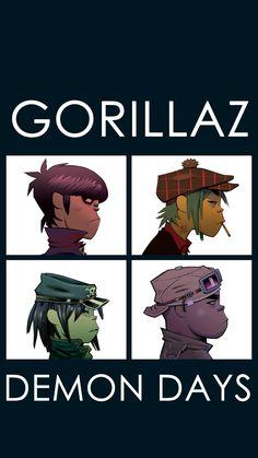 Android Demon Days (by Gorillaz) album art wallpaper Gorillaz Albums, Gorillaz Band, Gorillaz Fan Art, Damon Albarn, Music Covers, Album Covers, Gorillaz Demon Days, Jamie Hewlett Art, Monkeys Band
