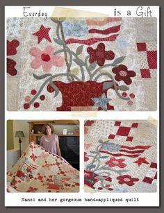 Flag Quilt, Patriotic Quilts, Quilt Blocks, Rug Hooking Patterns, Quilt Patterns, Blackbird Designs, Small Quilts, Blue Quilts, Quilt Of Valor