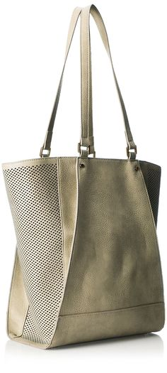 POVERTY FLATS by rian Perf Detail Tote, Taupe
