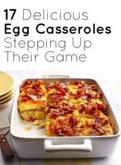 17 Delicious Egg Casseroles That Are Stepping Up Their Game. YUM Source by kathryn_rose Savory Breakfast, Breakfast Items, Breakfast Dishes, Breakfast Recipes, Egg Recipes, Brunch Recipes, Cooking Recipes, Trout Recipes, Egg Casserole