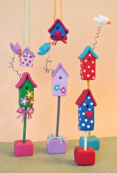 ...Make It With Me: Teeny Cute Birdhouses With STAEDTLER Fimo