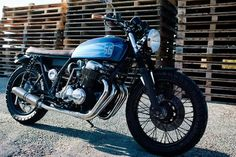 Honda CB750 Brat Style by 66 Motorcycles #motorcycles #bratstyle #motos | caferacerpasion.com