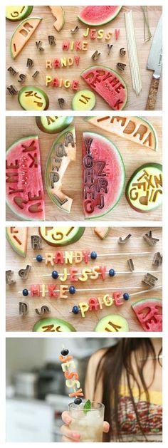 DIY fruit letters / Вот оно какое наше лето: 40 ярких идей для пляжной вечеринки на даче - Ярмарка Мастеров - ручная работа, handmade