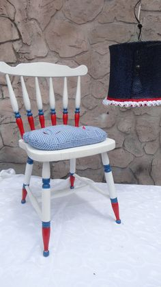 Hand painted Red White Blue Patriotic fourth by PerfectlyGoodStuff, $130.00