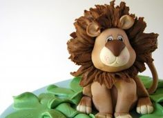 Jungle animals baby shower cake made for a family friend. They just said to do whatever I'd like and incorporate jungle animals, so I had a good old time! I took elements from a lot of cakes I've seen on here, so to name a few – Royal Bakery:. Fondant Animals, Clay Animals, Jungle Animals, Jungle Lion, Fondant Figures, Cupcakes, Cupcake Cakes, Fondant Cakes, Baby Shower Cakes