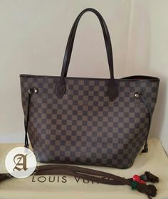 eae7422142a Used Authentic Louis Vuitton Neverfull Damier MM   Like new condition Comes  with Dustbag and handle cover Contact   Whatsapp