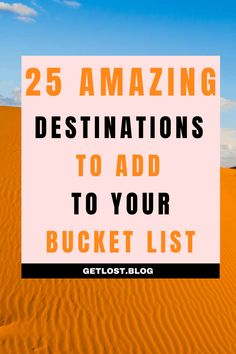 Are you looking to top up your travel bucket list? This guide outlines the top travel destinations in the world to fuel your wanderlust. Whether you're looking for an adventure vacation, road trip, luxury escape or budget city break, this list is full of travel inspiration. Click the pin to find out more! #TravelInspiration #TravelMotivation #TravelTheWorld #Wanderlust #Adventure #Bucketlist #Travel #TravelPlanning #TravelingInspiration #TravelTips #TravelGoals #TravelDreams…