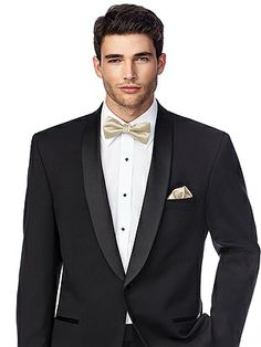 Black tie instead of champagne, love the pocket sxquare. Matte Satin Pocket Square http://www.dessy.com/accessories/matte-satin-pocket-square/
