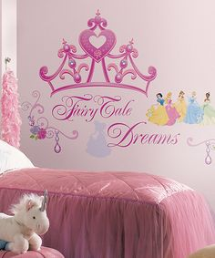 Another great find on #zulily! Disney Princess Crown Giant Decal Set by Disney Princess #zulilyfinds
