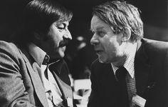 Günter Grass und Siegfried Lenz  im Gespräch (Foto undatiert)