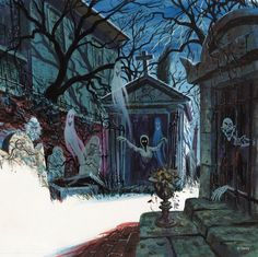 Concept art for Haunted Mansion