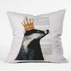 Coco de Paris Royal Badger Throw Pillow | DENY Designs Home Accessories