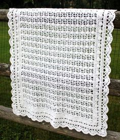 This is Gorgeous!! I need to learn how to do this! Crocheted Baby Blanket.  CAN YOU SAY HEIRLOOM!
