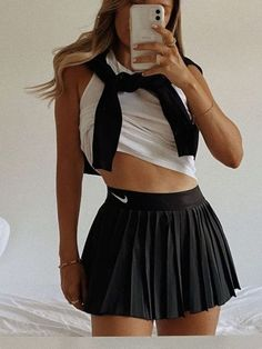 Sporty Outfits, Mode Outfits, Cute Casual Outfits, Summer Outfits, Girl Outfits, Fashion Outfits, Tennis Outfits, Cute Outfits With Skirts, Hipster Outfits