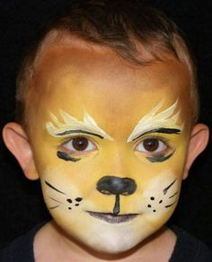 Lion face painting for kids – Animal Life Lion King Jr, Lion King Party, Skull Face Paint, Face Paint Makeup, Animal Face Paintings, Animal Faces, Lion Painting, Painting For Kids, Lion Face Paint Easy