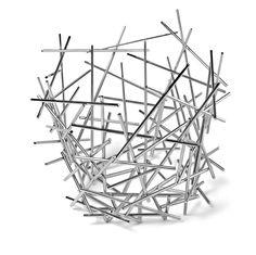 Alessi Blow Up Citrus Basket by Fratelli Campana, 2004 by All Modern Design Shop, Design Design, Interior Design, Spaghetti Eis Dessert, Steel Rod, Basket Decoration, Large Homes, Street Artists, Tea Light Holder
