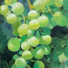 """""""wine grapes"""" - Original Fine Art for Sale - © Kim Smith"""